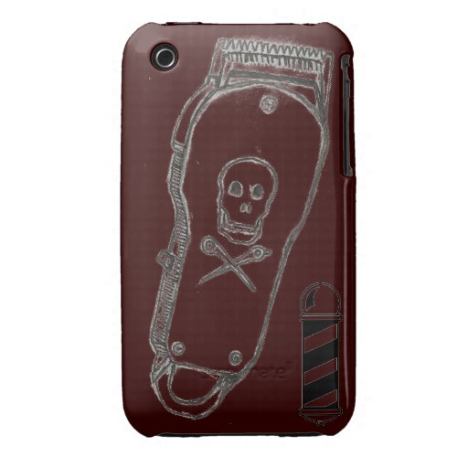 Barber Case : Barber Clippers IPhone Case Brown iPhone 3 Cases Zazzle