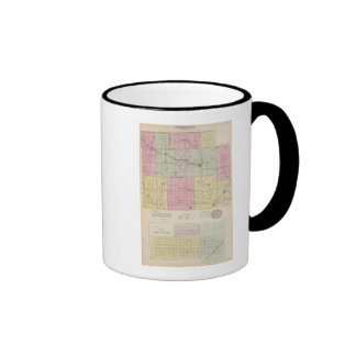 Barber County and Hazelton, Kansas Ringer Coffee Mug