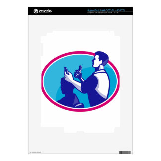 Barber Cutting Hair Barbershop Retro Decals For iPad 3