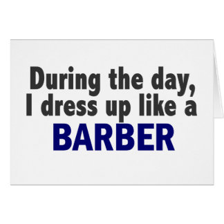 Barber During The Day Greeting Card