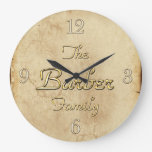 BARBER Family Clan Reunion Custom Designed Clock