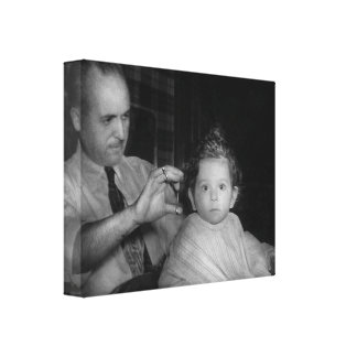 Barber - First Haircut Canvas Print
