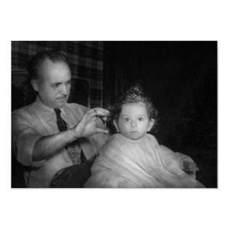 Barber - First Haircut Card