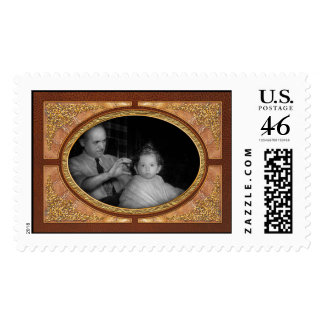 Barber - First Haircut Postage Stamps