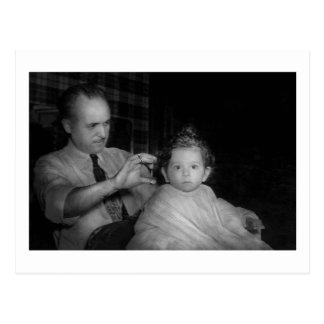 Barber - First Haircut Postcard