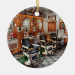 Barber - Frenchtown Barbers  Double-Sided Ceramic Round Christmas Ornament