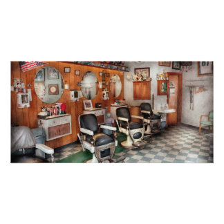 Barber - Frenchtown Barbers Photo Card