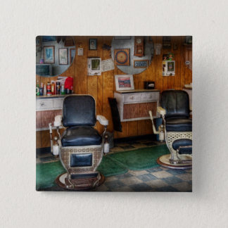 Barber - Frenchtown, NJ - Two old barber chairs  Button