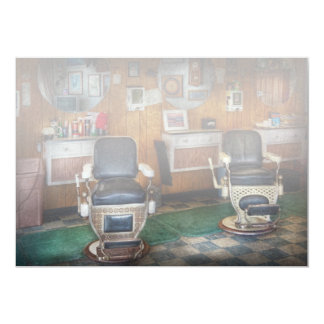 Barber - Frenchtown, NJ - Two old barber chairs  Card