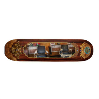 Barber - Frenchtown, NJ - Two old barber chairs  Skateboard Deck