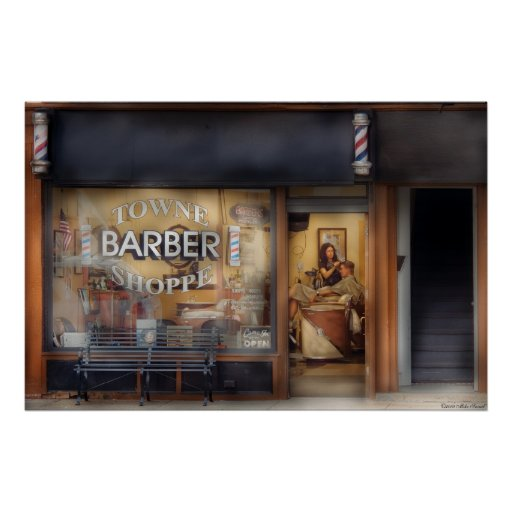 Barber - Getting a hair cut Poster