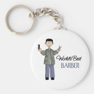 Barber Gift Basic Round Button Keychain