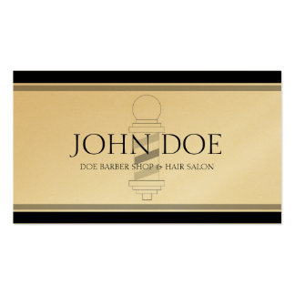 Barber/Hair Stylist Black/Golden Double-Sided Standard Business Cards (Pack Of 100)