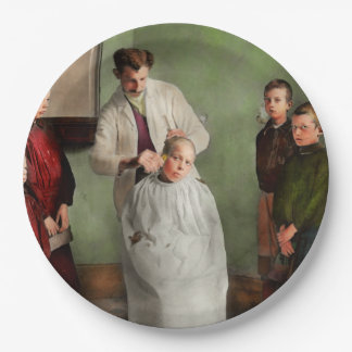 Barber - Haircut Day 1918 Paper Plate