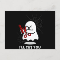 Barber |Halloween Boo Ghost Hairstylist Gift Funny Invitation Postcard