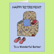 Barber Happy Retirement Card