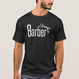 Barber in Fun Text T-Shirt