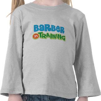 Barber in Training Kids Shirt