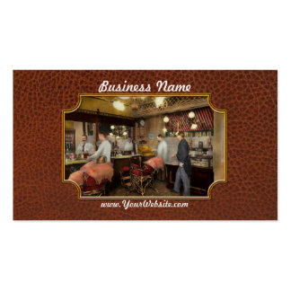 Barber - L.C. Wiseman Barbershop, NY 1895 Double-Sided Standard Business Cards (Pack Of 100)
