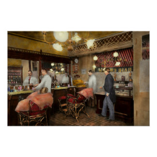 Barber - L.C. Wiseman Barbershop, NY 1895 Poster