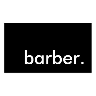 barber. loyalty punch card Double-Sided standard business cards (Pack of 100)