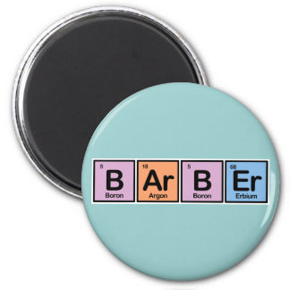 Barber made of Elements 2 Inch Round Magnet
