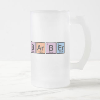 Barber made of Elements Frosted Glass Beer Mug