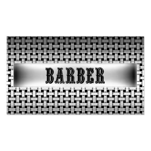 Barber Metal Look Business Card