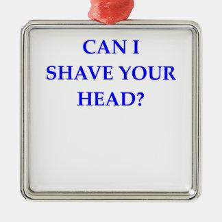 barber metal ornament