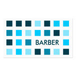 BARBER (mod squares) Business Card Template