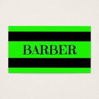 Barber Neon Green Business Card
