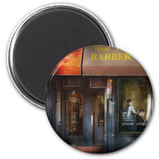 Barber - NY - West Village Barber Shop 2 Inch Round Magnet