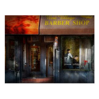 Barber - NY - West Village Barber Shop Postcard