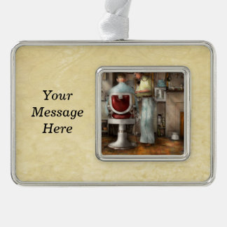 Barber - Our family barber 1935 Silver Plated Framed Ornament