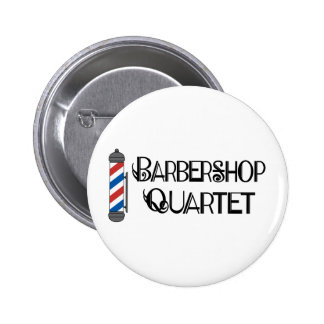 Barber Pole Barbershop Quartet Pinback Button