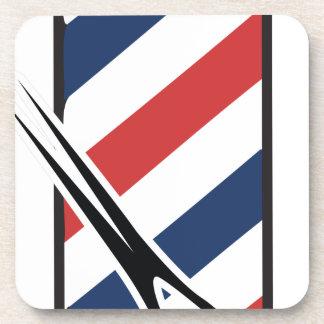 barber pole beverage coaster