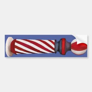 Barber Pole Car Bumper Sticker