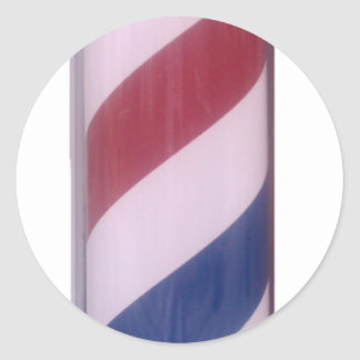 Barber Pole Classic Round Sticker