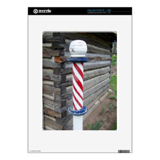 Barber Pole Decals For iPad