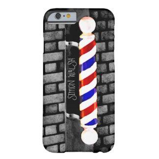 Barber Pole Distressed Custom Name iPhone 6 Case