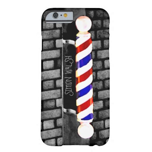 Barber Pole Distressed Custom Name iPhone 6 Case