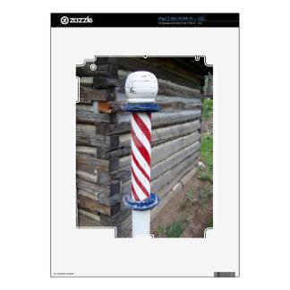 Barber Pole iPad 2 Decals
