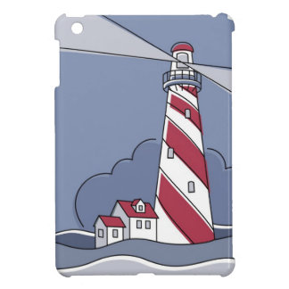 Barber Pole Lighthouse iPad Mini Covers