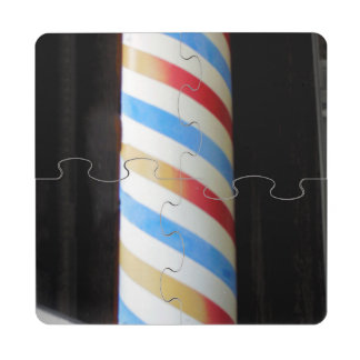 Barber Pole Puzzle Coaster