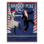 Barber Pole Rag Vintage Sheet Music Cover Image Poster
