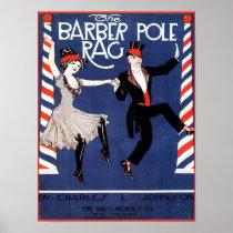 Barber Pole Rag Vintage Sheet Music Cover Image