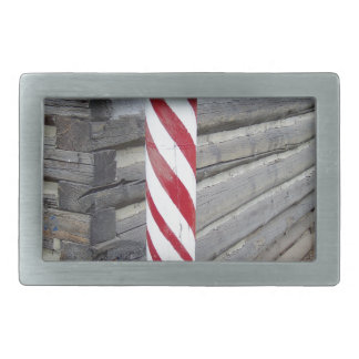 Barber Pole Rectangular Belt Buckle