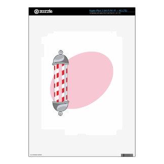 Barber Pole iPad 3 Decals