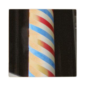 Barber Pole Wood Coaster