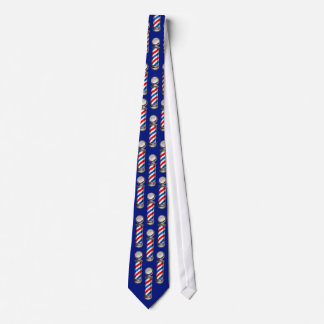 Barber Poles on Blue Neck Tie